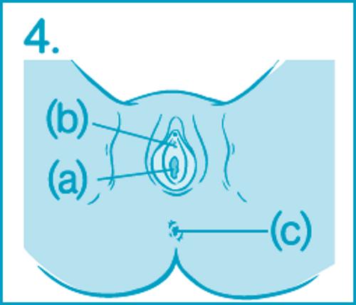 Как ввести тампон – шаг 4