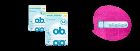 Серия тампонов o.b. Compact Applicator