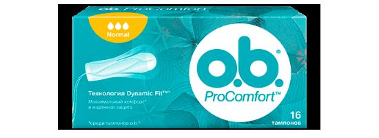 Серия тампонов o.b. Procomfort